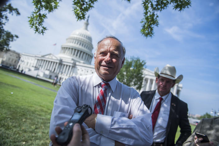 Rep. Steve King, R-Iowa, attends a rally in September to highlight crimes committed by illegal immigrants in the U.S. (Photo: Tom Williams/CQ Roll Call/GEtty Images)