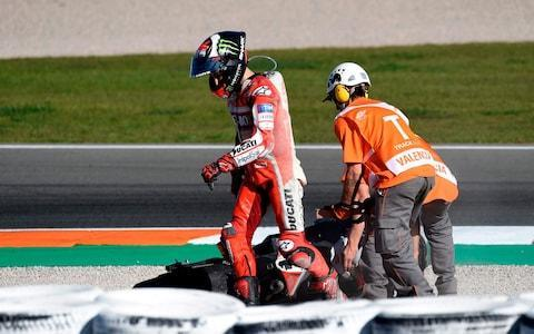 <span>The final round ended in heartache for the Ducati team</span> <span>Credit: Jose Jordan/AFP </span>