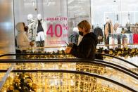 People visit at the Shops at Hudson Yards during early opening for the Black Friday sales in Manhattan, New York