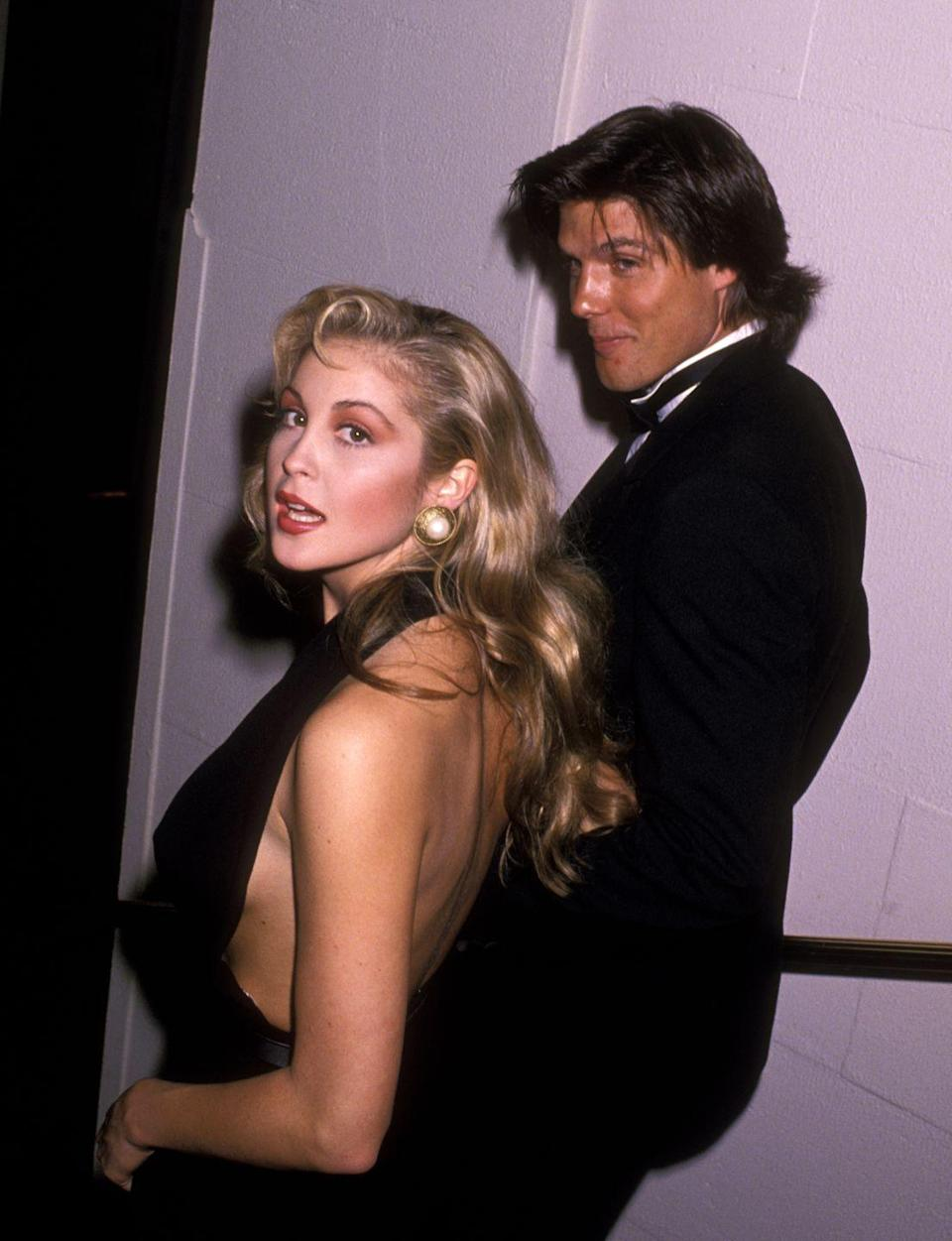 <p>An unscripted moment with Kelly Rutherford and Paul Johansson, dressed with a bit of old Hollywood flair.</p>