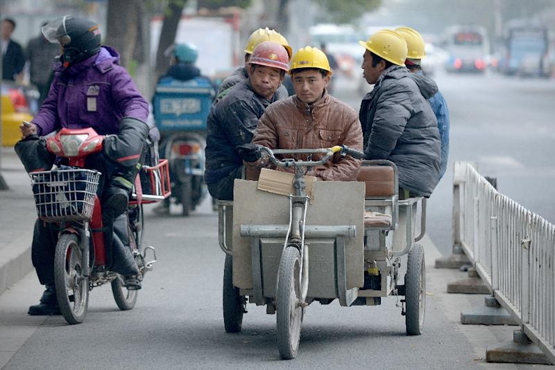 Industrial production rose 6.3 percent year-on-year, the National Bureau of Statistics (NBS) said (AFP Photo/Wang Zhao)