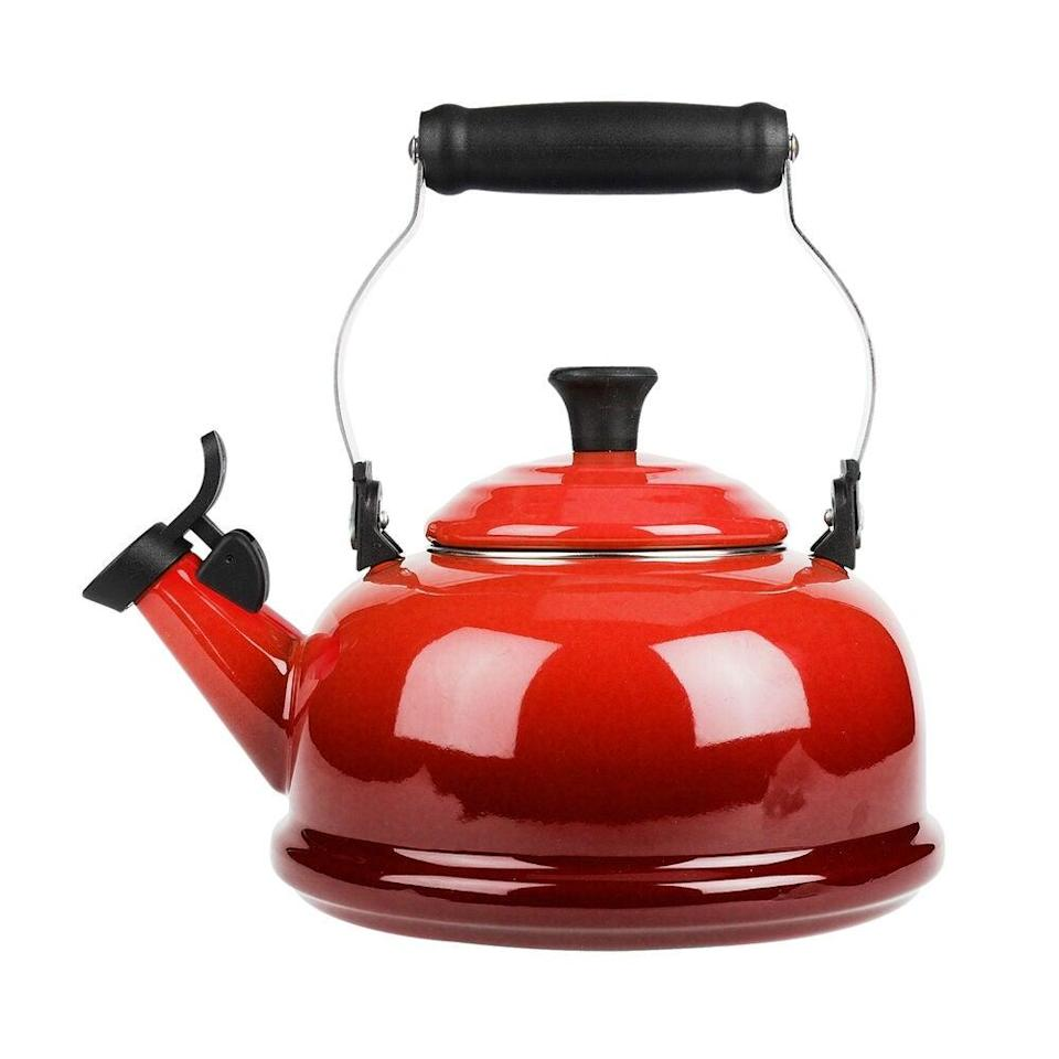 "<br><br><strong>Le Creuset</strong> Classic Whistling Teakettle, $, available at <a href=""https://go.skimresources.com/?id=30283X879131&url=https%3A%2F%2Fwww.surlatable.com%2Fkettle-caribbean%2FPRO-16215.html"" rel=""nofollow noopener"" target=""_blank"" data-ylk=""slk:Le Creuset"" class=""link rapid-noclick-resp"">Le Creuset</a>"