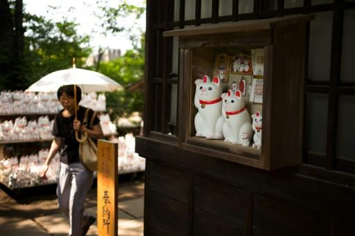 The feline figurines have certainly brought luck to the temple, which says it is seeing a growing number of visitors