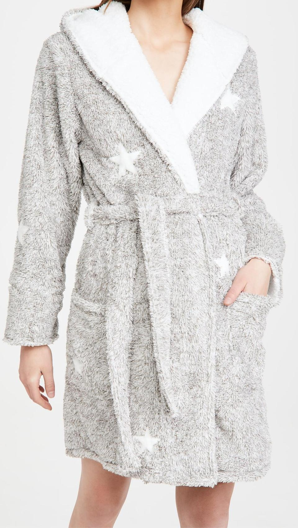 <p>We love that this <span>PJ Salvage Hooded Star Robe</span> ($94) has pockets.</p>