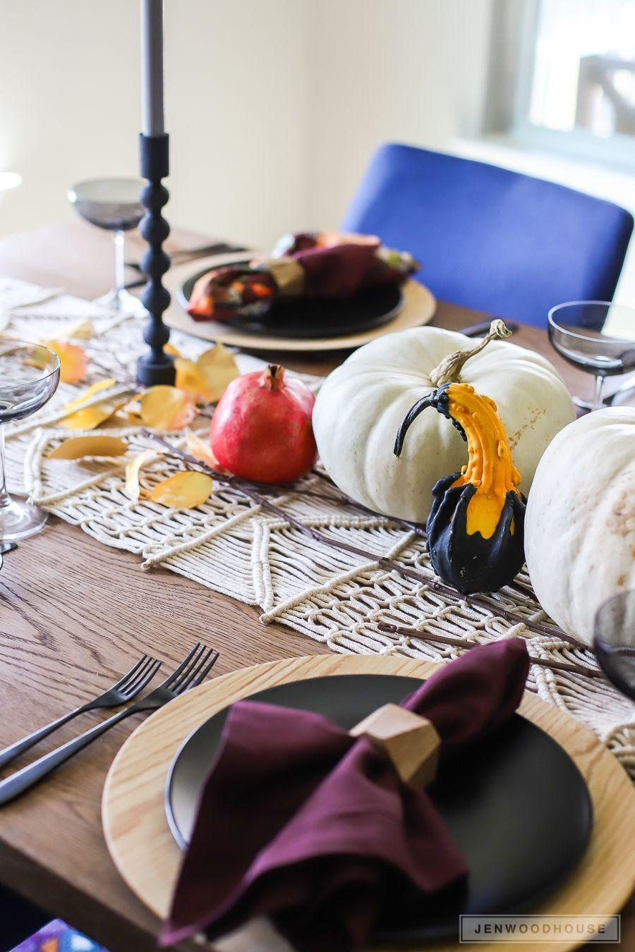 "<p>Celebrate the fruits of the season with this fun party idea! (Yes, squash and gourds are indeed fruit.) Try serving only squash and <a href=""https://www.countryliving.com/food-drinks/g619/our-best-pumpkin-recipes-1008/"" rel=""nofollow noopener"" target=""_blank"" data-ylk=""slk:pumpkin recipes"" class=""link rapid-noclick-resp"">pumpkin recipes</a>, or recipes that at least feature squash as a main ingredient, and of course, decorate your table to the nines with a bountiful harvest of the same stuff.</p><p><strong>Get the tutorial at <a href=""https://jenwoodhouse.com/fall-2017-home-tour/"" rel=""nofollow noopener"" target=""_blank"" data-ylk=""slk:The House of Wood"" class=""link rapid-noclick-resp"">The House of Wood</a>.</strong></p><p><a class=""link rapid-noclick-resp"" href=""https://www.amazon.com/Factory-Direct-Craft-Artificial-Thanksgiving/dp/B01KGCGQAE?tag=syn-yahoo-20&ascsubtag=%5Bartid%7C10050.g.4620%5Bsrc%7Cyahoo-us"" rel=""nofollow noopener"" target=""_blank"" data-ylk=""slk:SHOP DECORATIVE GOURDS"">SHOP DECORATIVE GOURDS</a></p>"