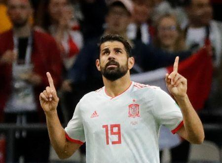 Soccer Football - World Cup - Group B - Iran vs Spain - Kazan Arena, Kazan, Russia - June 20, 2018 Spain's Diego Costa celebrates scoring their first goal REUTERS/Toru Hanai