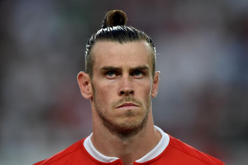 Wales' forward Gareth Bale is pictured prior to the UEFA Euro 2020 qualifier Group E football match Hungary against Wales on June 11, 2019 in Budapest. (Photo by ATTILA KISBENEDEK / AFP) (Photo credit should read ATTILA KISBENEDEK/AFP/Getty Images)