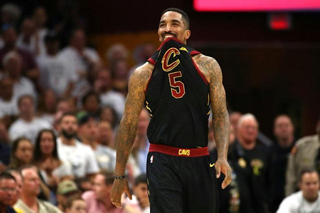 The Los Angeles Lakers have signed free agent guard JR Smith, a former teammate of superstar LeBron James in Cleveland, for the NBA's restart in July (AFP Photo/Gregory Shamus)