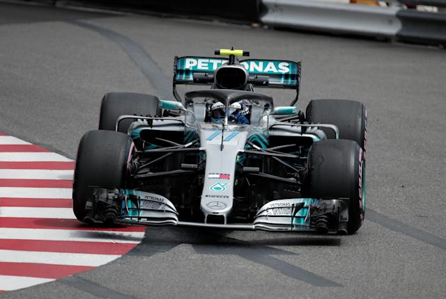 Motoracing - Formula One F1 - Monaco Grand Prix - Circuit de Monaco, Monte Carlo, Monaco - May 24, 2018 Mercedes' Valtteri Bottas during practice REUTERS/Benoit Tessier