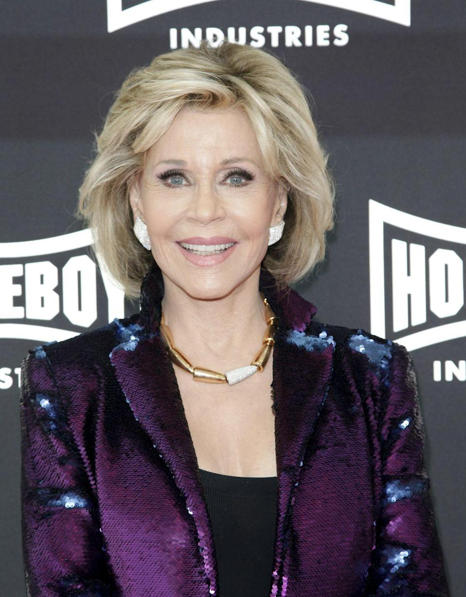 """<p>The star of <em>Grace & Frankie </em><a href=""""https://www.janefonda.com/2009/06/about-my-faith/"""" rel=""""nofollow noopener"""" target=""""_blank"""" data-ylk=""""slk:shared her journey with Christianity"""" class=""""link rapid-noclick-resp"""">shared her journey with Christianity</a> in a blog post on her site. """"Now, as I entered my sixth decade and with much work, I could feel myself becoming whole and I knew: This is what God is,"""" she wrote. </p>"""