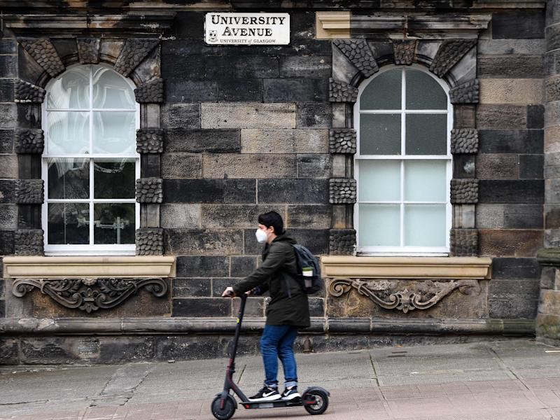 Students in Scotland cannot return home to parents under new rules, the national clinical director has said (AFP via Getty Images)