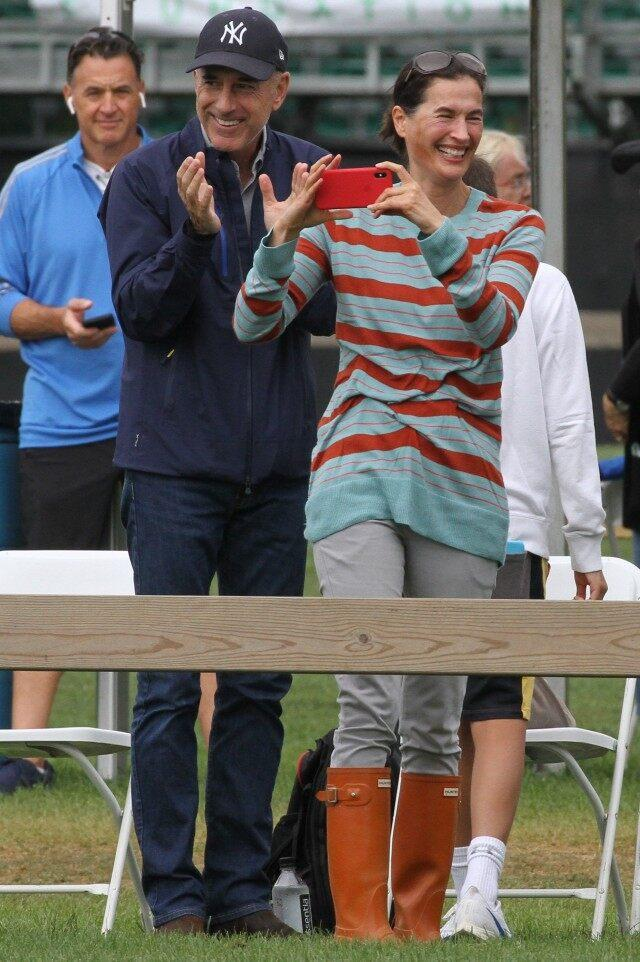 Matt Lauer and Annette Rogue spotted supporting daughter Romy at The Hampton Classic Horse Show