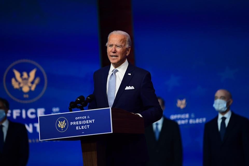 <p>Mr Biden's public address will be live-streamed from Wilmington</p> (Getty Images)