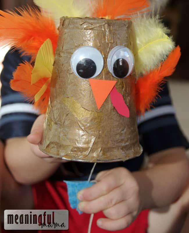 "<p>Keep the kids table entertained with this gobbling turkey craft by <a href=""https://meaningfulmama.com/gobbling-turkey-thanksgiving-craft.html"" rel=""nofollow noopener"" target=""_blank"" data-ylk=""slk:Meaningful Mama"" class=""link rapid-noclick-resp"">Meaningful Mama</a>. With a small wet dish sponge attached to a string, the sound it makes as it's pulled mimics that of a turkey. </p><p><a class=""link rapid-noclick-resp"" href=""https://go.redirectingat.com?id=74968X1596630&url=https%3A%2F%2Fwww.michaels.com%2Fcreatology-feathers-goose-fall-mix%2F10396699.html&sref=https%3A%2F%2Fwww.delish.com%2Fholiday-recipes%2Fthanksgiving%2Fg33808794%2Fthanksgiving-decorations%2F"" rel=""nofollow noopener"" target=""_blank"" data-ylk=""slk:BUY NOW"">BUY NOW</a> <em><strong>Feathers, $2.19</strong></em></p>"