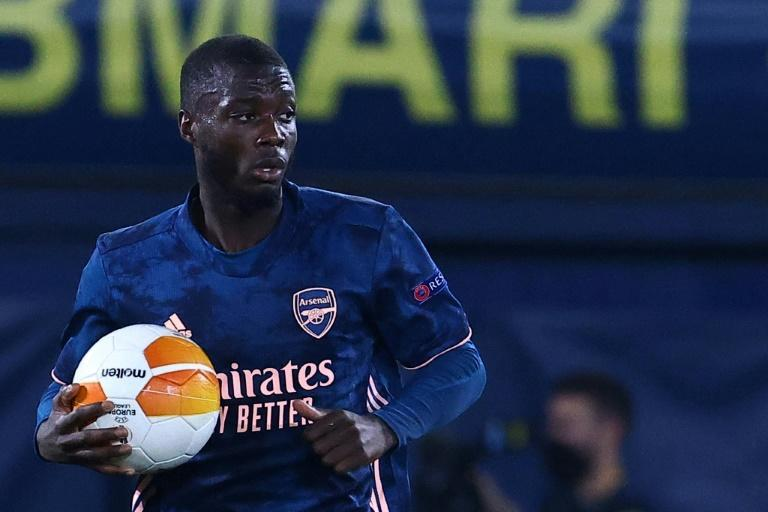 Nicolas Pepe scored a vital penalty in the first leg of Arsenal's Europa League semi-final against Villarreal