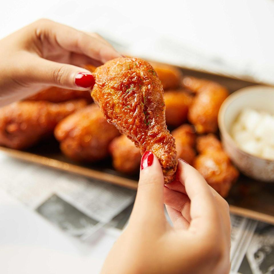 <p>You can't go wrong with fried chicken, but have you ever had Korean fried chicken? Bonchon is like the high-end KFC of Korean chicken wings and is severely overlooked in the chicken-loving community. Their wings are always perfectly crunchy on the outside and juicy on the inside. We highly recommend tossing your wings in the soy garlic sauce. </p>
