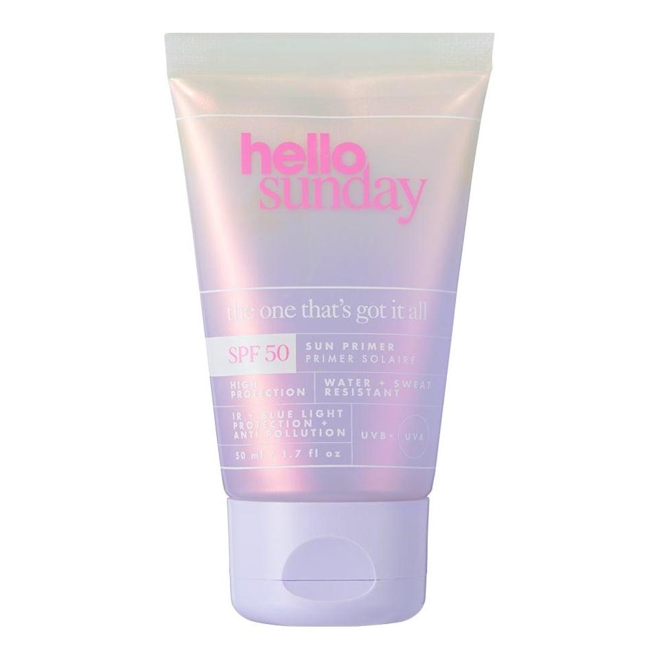 Hello Sunday The One That's Got It All Facial Primer SPF 50, £20, (Hello Sunday)