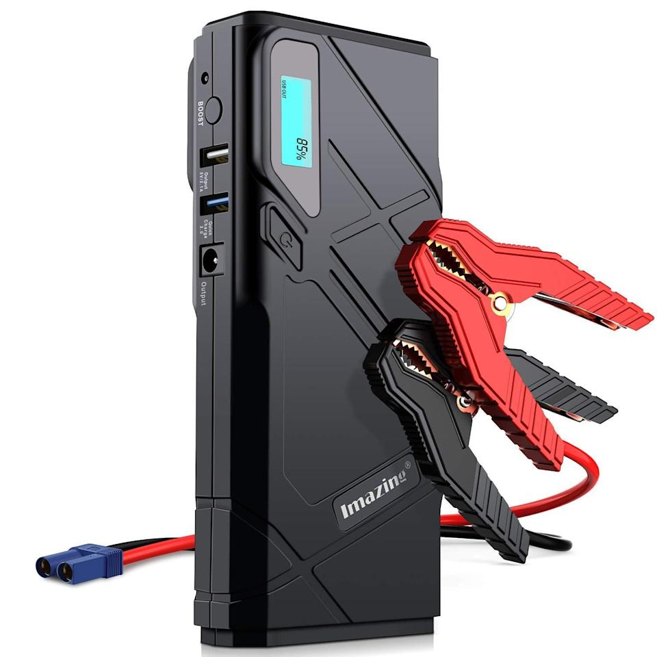 <p>You won't regret having this <span>Imazing Portable Car Jump Starter </span> ($70) on hand in your car.</p>