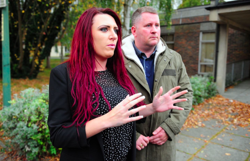<em>Jayda Fransen, seen here with Britain First leader Paul Golding, is the deputy leader of the far-right organisation (Rex)</em>