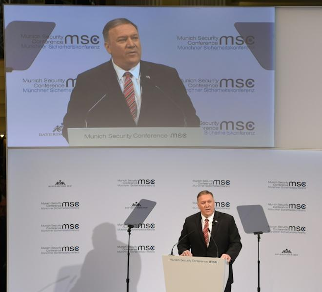 US Secretary of State Mike Pompeo sought to ease European anxiety over the transatlantic bond under an unpredictable President Donald Trump (AFP Photo/Christof STACHE)