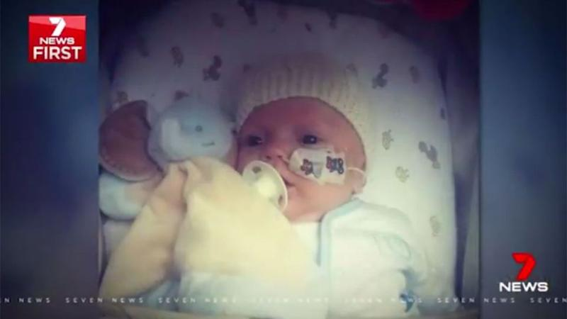 Baby Harry required 12 hours of dialysis every night. Source: 7 News