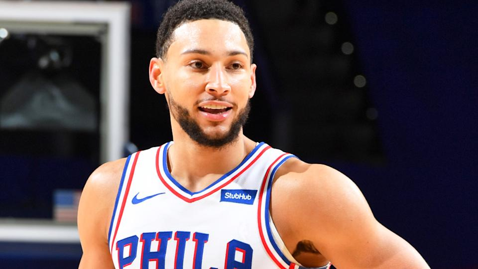 Ben Simmons is set to join the Boomers squad at the Olympics for the first time in his career. (Photo by Jesse D. Garrabrant/NBAE via Getty Images)