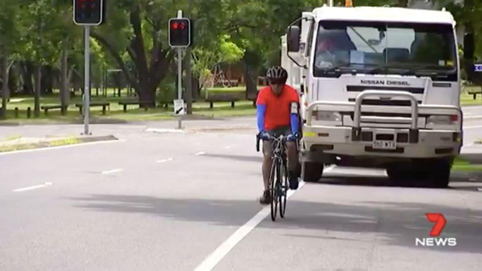 Tensions between drivers and cyclists are on the rise. Source: 7 News