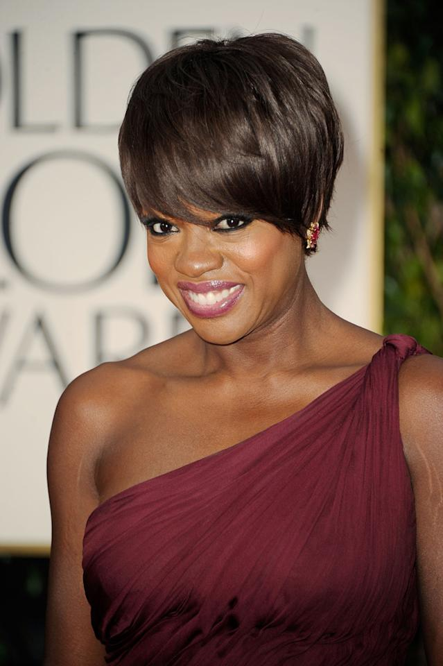 BEST: Viola Davis arrives at the 69th Annual Golden Globe Awards in Beverly Hills, California, on January 15.