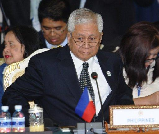 Albert del Rosario said Beijing posed a threat to the region