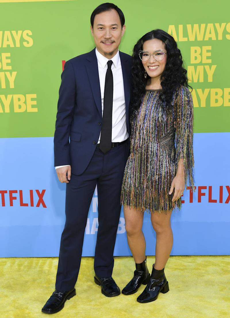 WESTWOOD, CALIFORNIA - MAY 22: Ali Wong (R) and Justin Hakuta attend the premiere of Netflix's