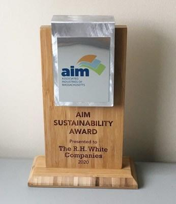 R.H. White Companies 2020 Sustainability Award from Associated Industries of Massachusetts
