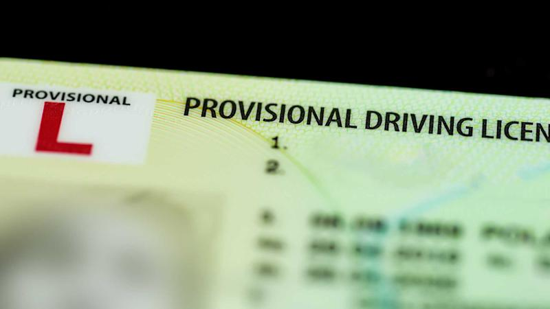 Provisional UK driving licence. - Image