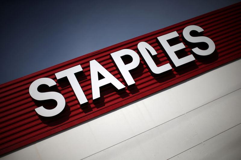 FILE PHOTO: A Staples store is seen in Los Angeles
