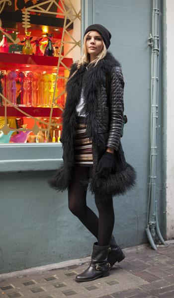 A Zara Jacket, Topshop Beanie And Dune Boots In Today's Style Hunter
