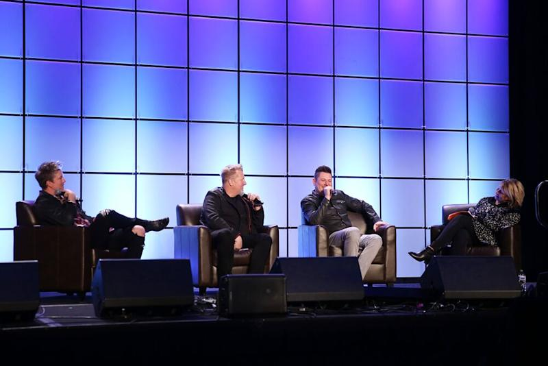 Joe Don Rooney, Gary LeVox, Jay DeMarcus and Sarah Trahern | Hunter Berry/CMA