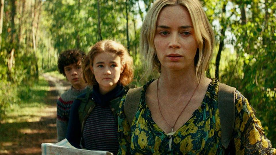 <p>The trailer for <em>A Quiet Place Part II</em> gives hope that we might witness the first day that the sound hunting creatures invaded the world. Emily Blunt won a SAG Award for her performance in the first one, so we can't wait to see her amp up the scares alongside her director hubby John Krasinski when the film drops in 2021.<br></p>