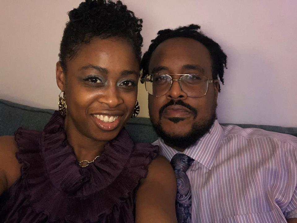Dwain Daley and Nyasha Pitt went on their first date in July last year - and now are getting married. (PA Real Life)