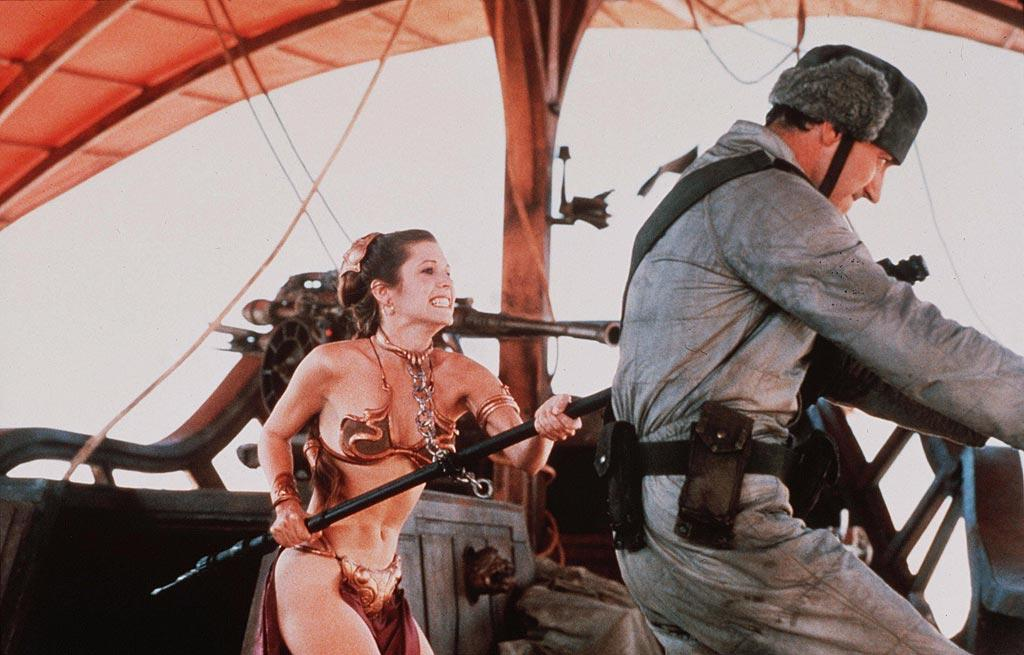 "<a href=""http://movies.yahoo.com/movie/contributor/1800010395"">Carrie Fisher</a>, ""<a href=""http://movies.yahoo.com/movie/1800111258/info"">Return of the Jedi</a>""<br><br>Carrie Fisher's personal battles with addiction were way more thrilling than the battle sequences in Episode VI, but who can discount the woman who strangled notorious three ton gangster Jabba the Hutt to death while armed with nothing more than a metallic bikini and a rusty chain?"