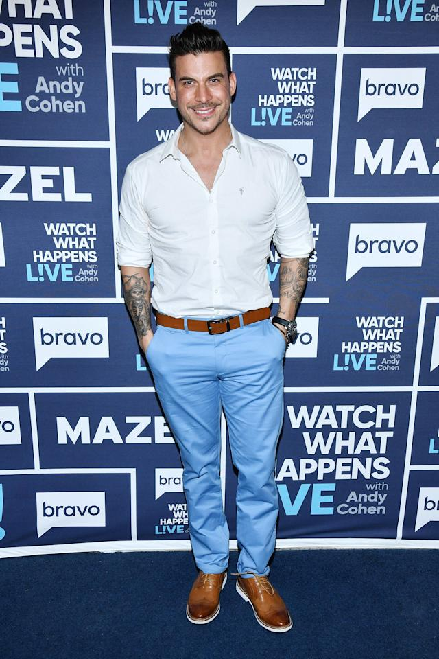 """The infamous bad boy of SUR has a laundry list of castmate hookups — most of which took place before <a href=""""https://people.com/tv/vanderpump-rules-jax-taylor-brittany-cartwright-engaged/"""">he put a ring on SUR server Brittany Cartwright's finger</a>.  The list of those who have been """"Jaxed"""" includes Stassi Schroeder, former SUR server Laura-Leigh, Kristen Doute and SUR server Faith Stowers, whom he cheated on Cartwright with during season 6.  Although fellow cast members, including Taylor's best friend Tom Sandoval, were not entirely convinced Taylor had changed his ways before <a href=""""https://people.com/tv/vanderpump-rules-jax-taylor-brittany-cartwright-wedding-photos-exclusive/"""">he wed Cartwright in June 2019</a>, the bartender is now happily married and the two live together in a <a href=""""https://people.com/home/inside-jax-taylor-brittany-cartwrights-los-angeles-home/"""">gorgeous L.A. home</a>."""