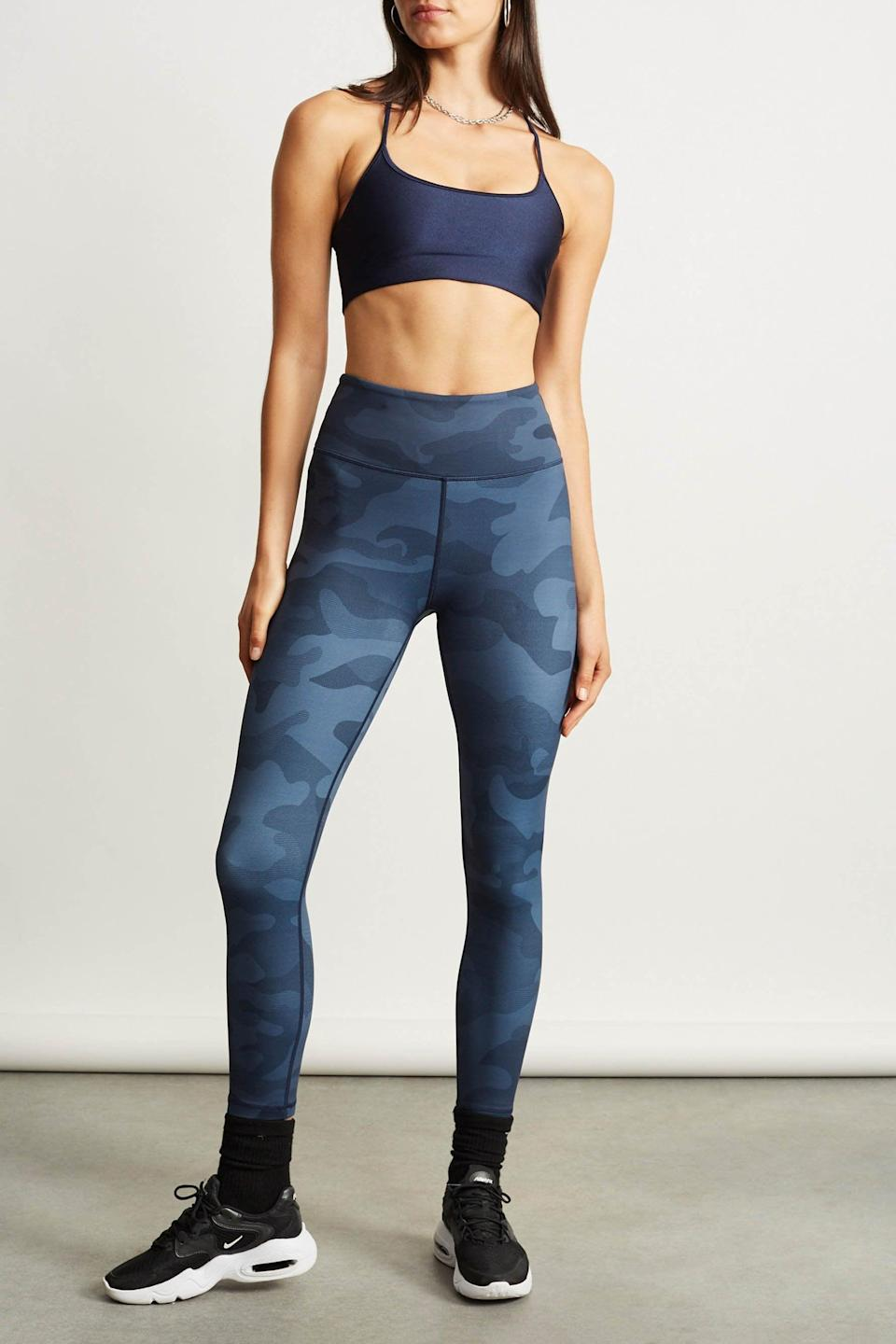 <p>We're loving the navy camo of these <span>Lilybod Whitley Leggings</span> ($88).</p>