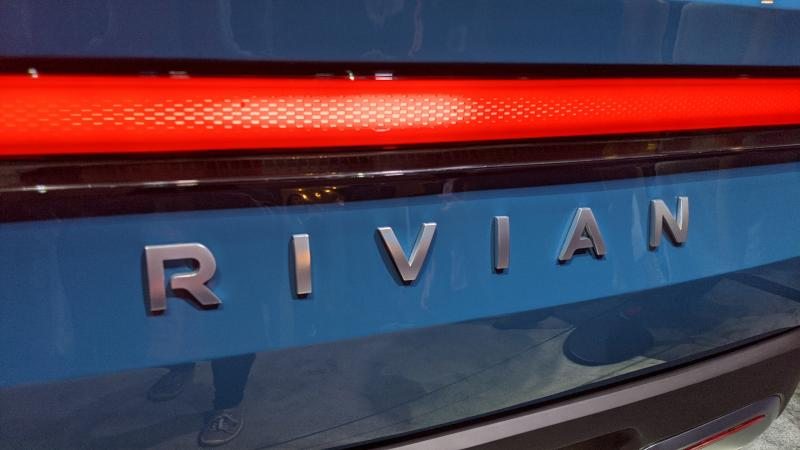 Rivian electric truck CES