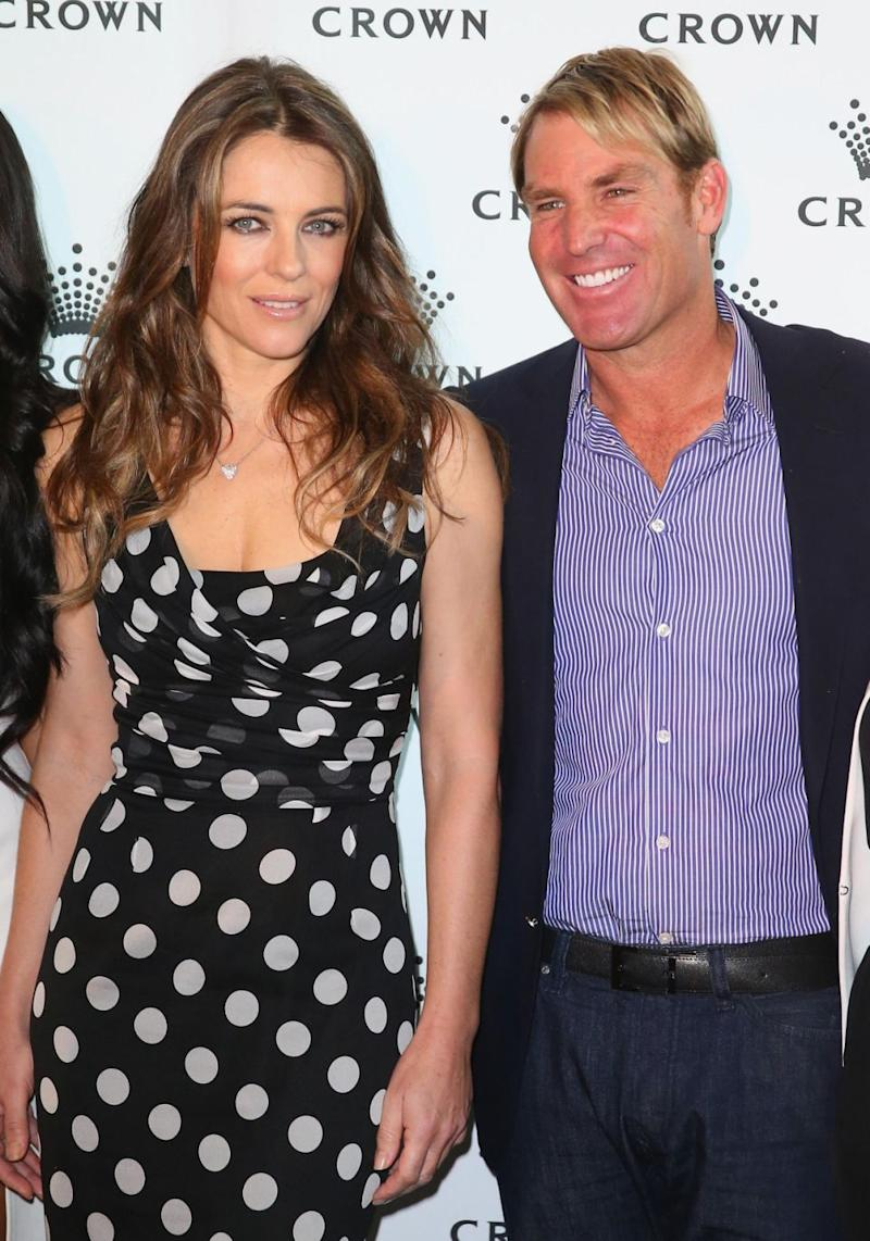 Shane and Liz are pictured here together in 2013 just before their split. Source: Getty