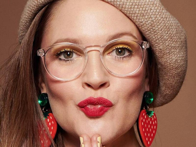 Drew Barrymore launches collection of blue light glasses