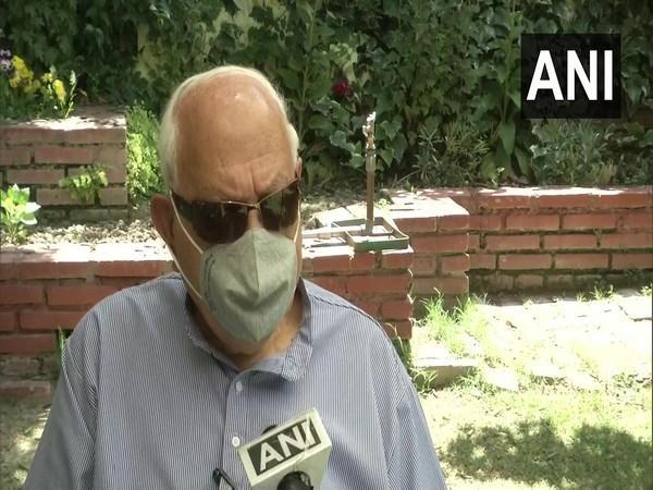 National Conference chief Farooq Abdullah speaking to ANI
