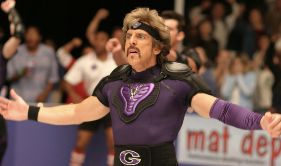 Ben Stiller in a still from <i>Dodgeball</i> (20th Century Fox)