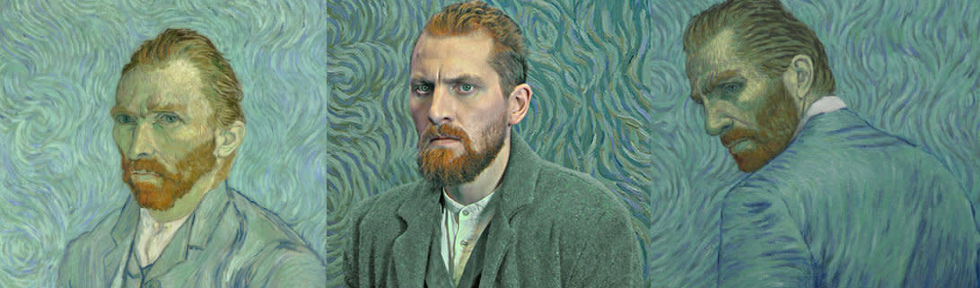 """""""Loving Vincent,"""" a star-studded biopic about the life of Vincent van Gogh that's been hailed as the first fully painted feature film ever made, debuts on Sept. 22."""