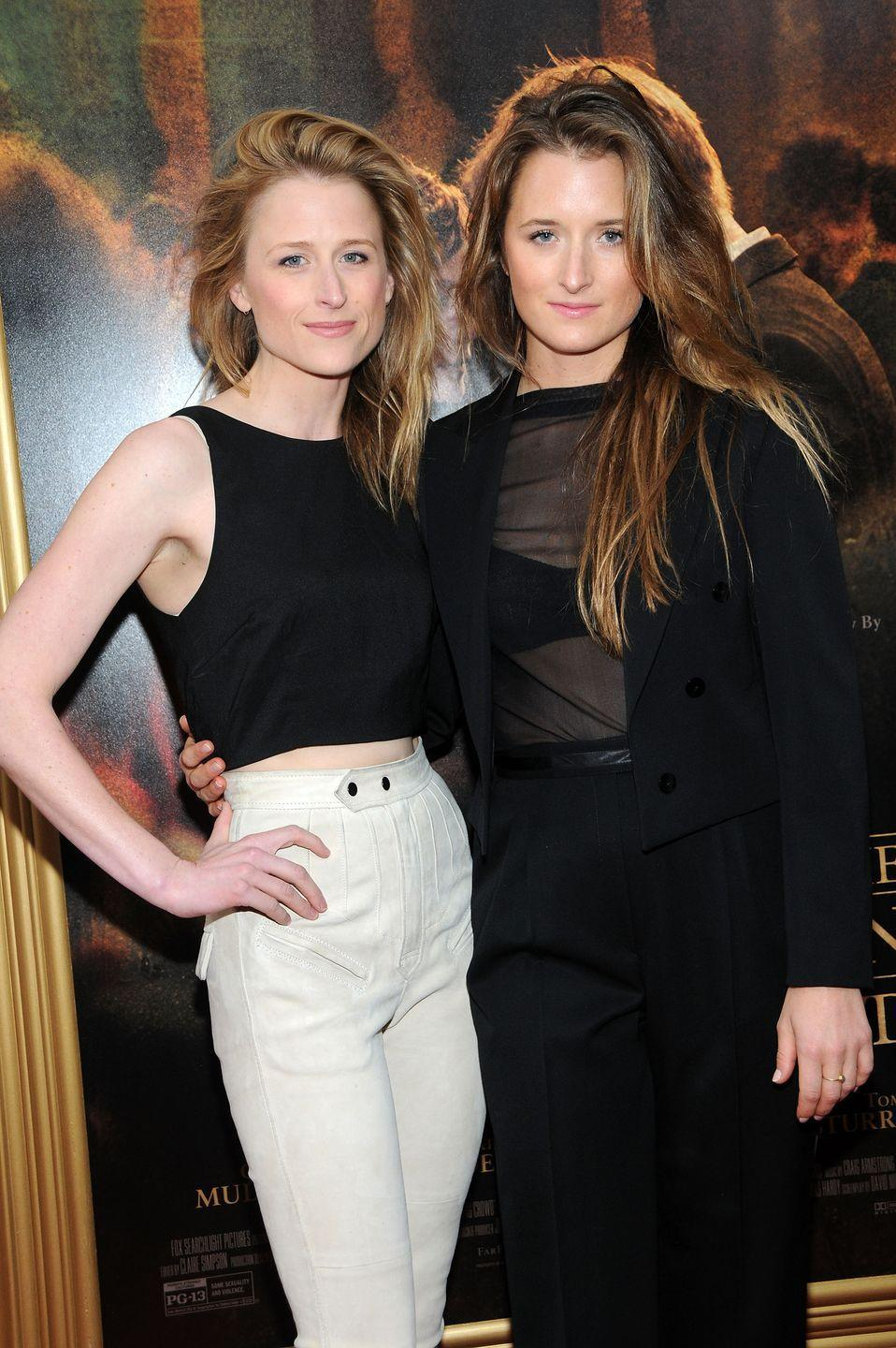 <p>Not only are Mamie and Grace Gummer practically identical, they also look like their very famous mom, Meryl Streep. Both followed their mother into show business, carving out their own niches with roles in TV and theater.</p>