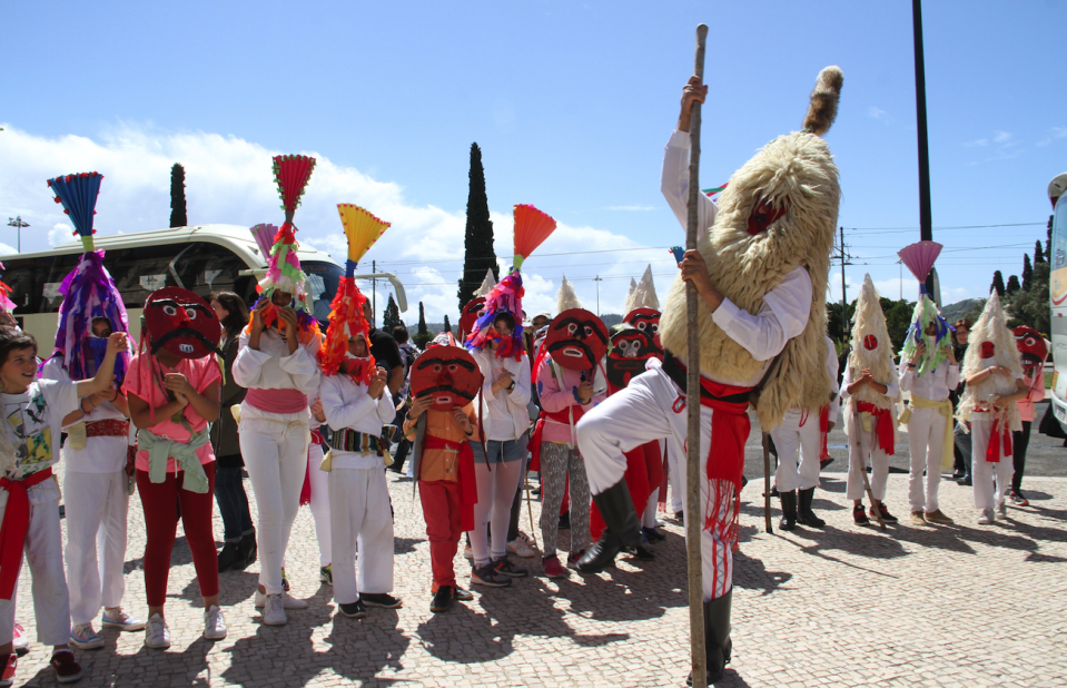<p>Portugal grabbed the third spot. In this photo, traditional Iberian dancers perform in Lisbon (Picture:REX) </p>