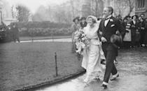 <p>English actor Jack Hulbert and actress/comedian Cicely Courtneidge walked down the aisle in 1916. The couple, who frequently collaborated on projects, stayed together until his death in 1978. She never remarried. </p>