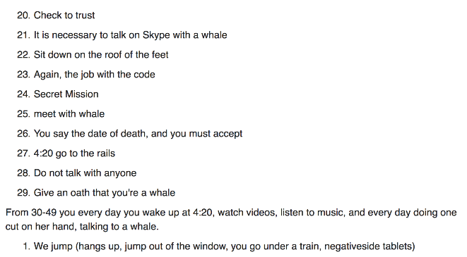 The Blue Whale challenge has reportedly claimed over 130 lives so far.